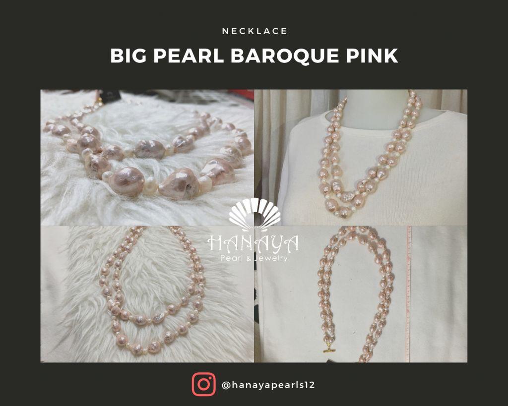 big baroque pearl pink