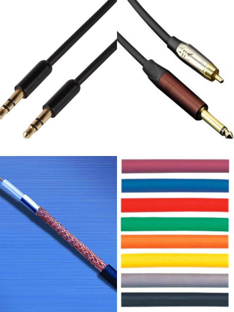 colorful cables used in microphone,guitar,instrument,speaker,audio XLR cable 3/5 pin
