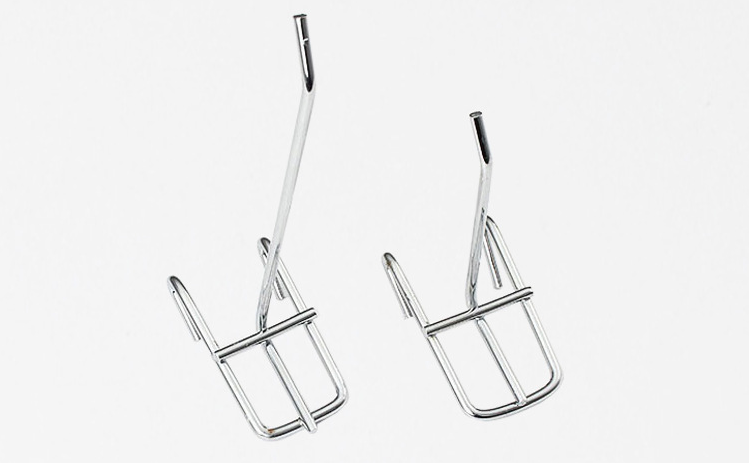 Metal display hanging hook for gridwall