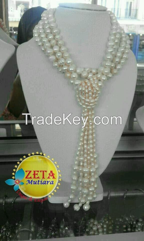 Indonesia Fresh Water Pearl Necklaces