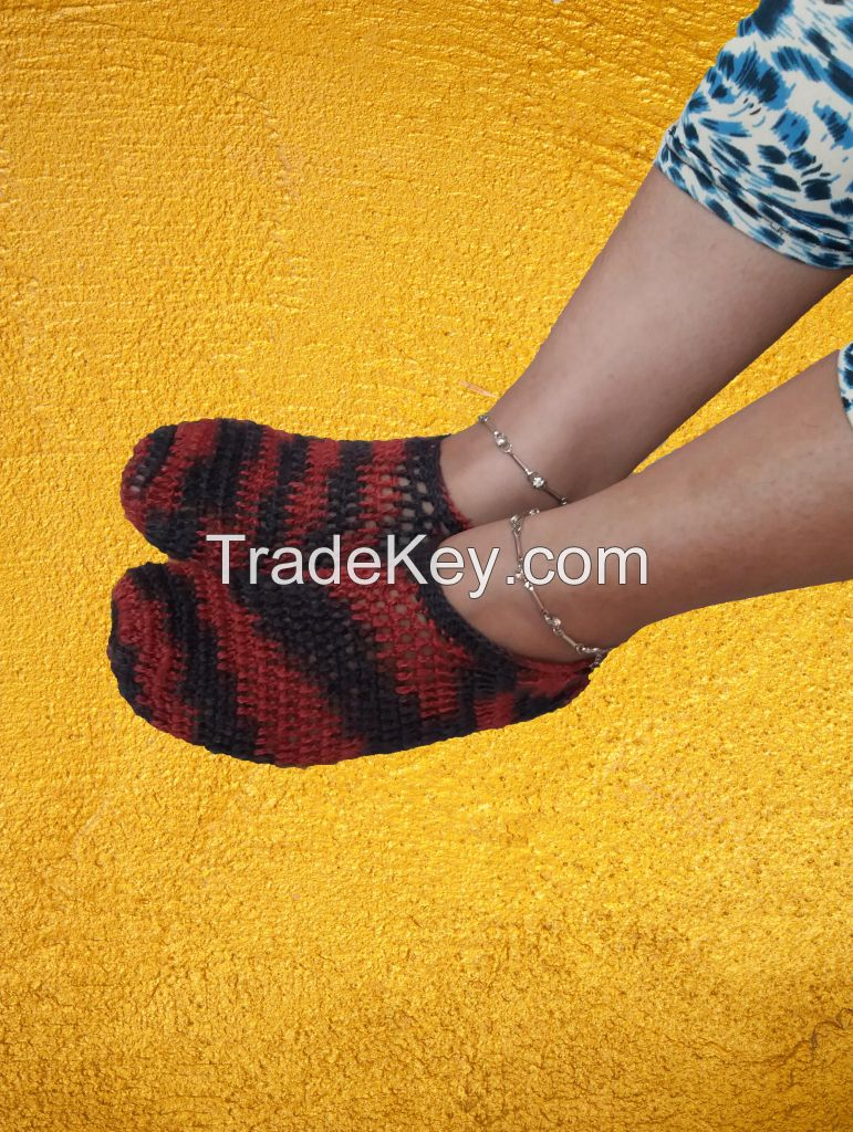 Hand Knitted Woolen Socks