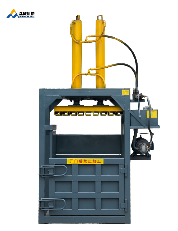 china baler company manufacturer ZW-10 tons waste bale press compactor machine for cardboard or plastic bags