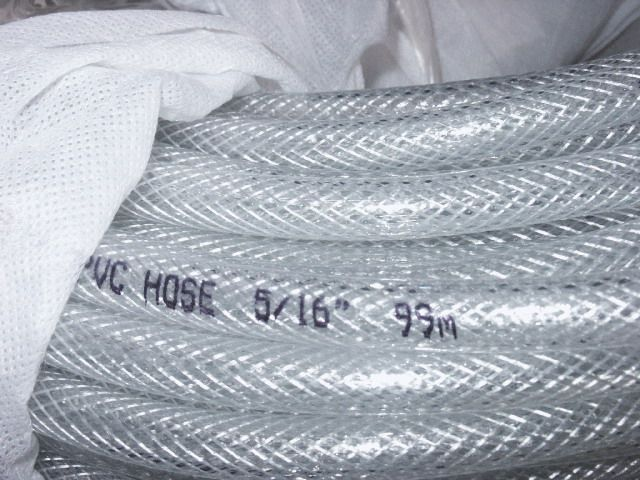 PVC REINFORCED WATER HOSE, CLEAR