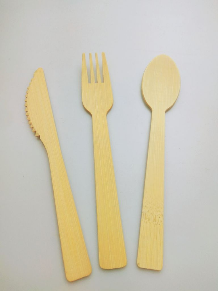 Disposable Bamboo Cutlery Set Knife Fork Spoon
