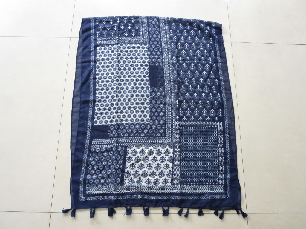 Lady's printed scarf in summer