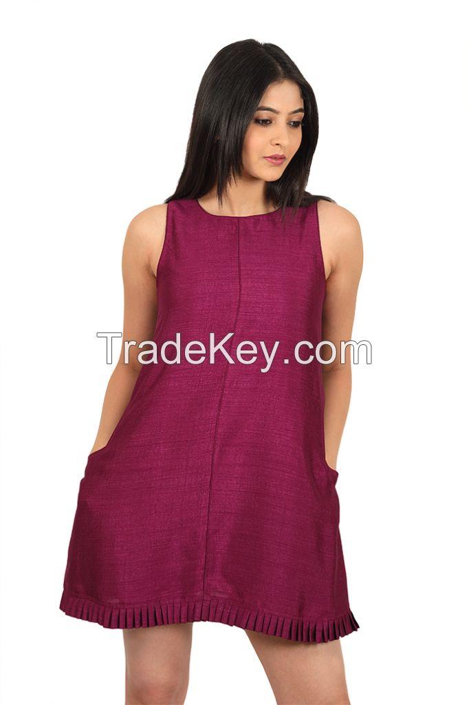 Pleated Tank Dress