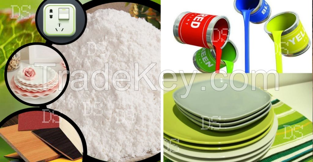 Melamine white powder 99.8 for wooden industry use