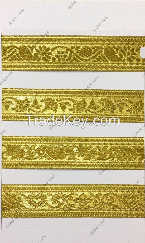 Gold Metallic Jacquard Trim