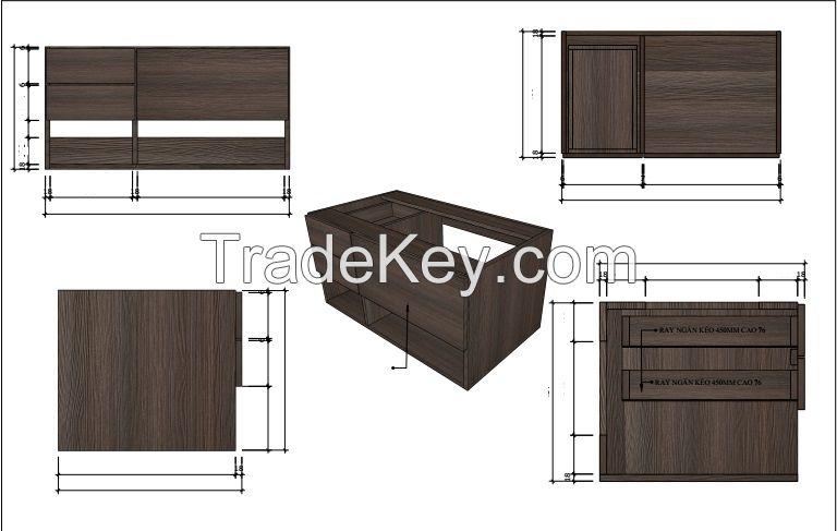 Vanity cabinet for hotel, restaurant, home.
