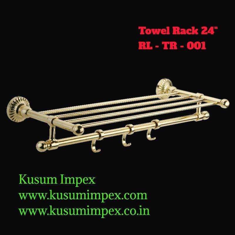 Chrome Plated Brass Towel Rack