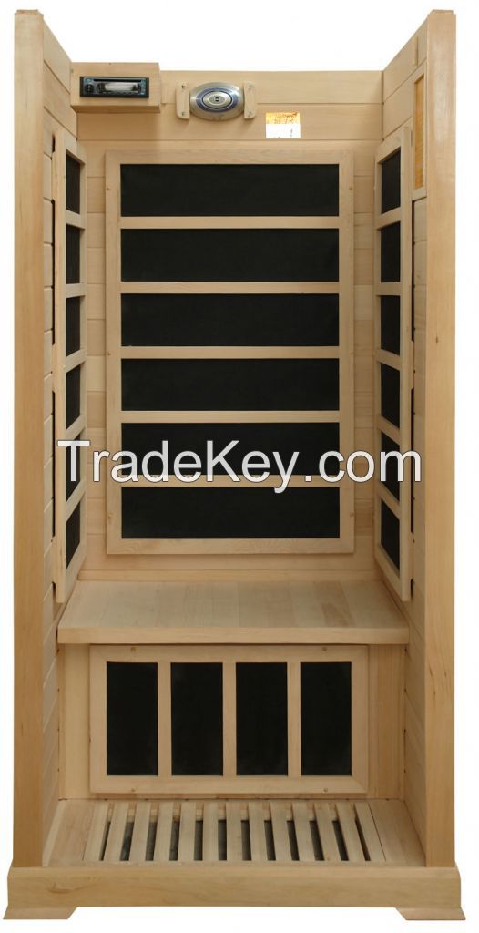 1 person hemlock far infrared sauna room