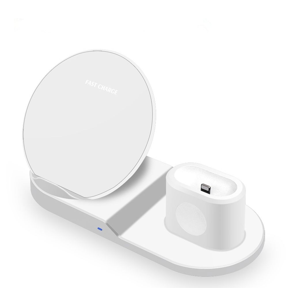 3 In 1 Fast Charging Qi Wireless Charger for Apple watch For iPhone Samsung