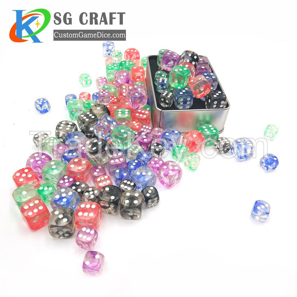 plastic dice