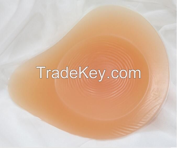 Spiral shape high-grade silicone breast form for mastectomy