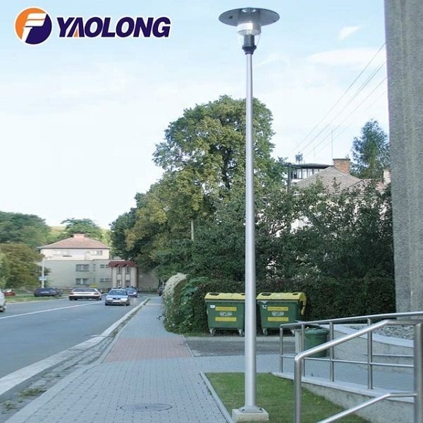 Round Straight Aluminum Light Pole With Anchor Base