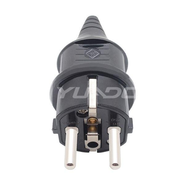 Super Material Schuko Plug Home / Industrial / Factory Germany EU Rewirable Waterproof Power Plug