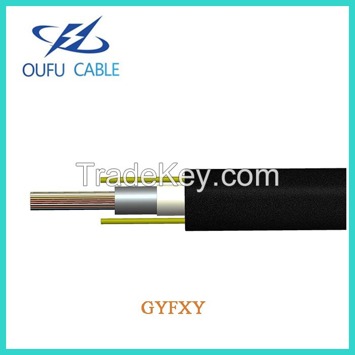 High Quality GYFXY 4 6 8 12 24 Core G652D Single Mode Outdoor Fiber Optic Cable