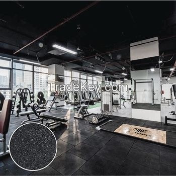 Thick gym mats recycled rubber flooring
