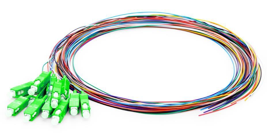 4/6/8/12 fibers color coded pigtails, singlemode 900um corning G657A, fan-out distribution optical pigtails