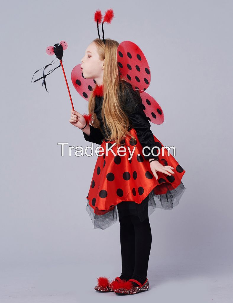 Girls Deluxe Miraculous Ladybug Costume 10pcs