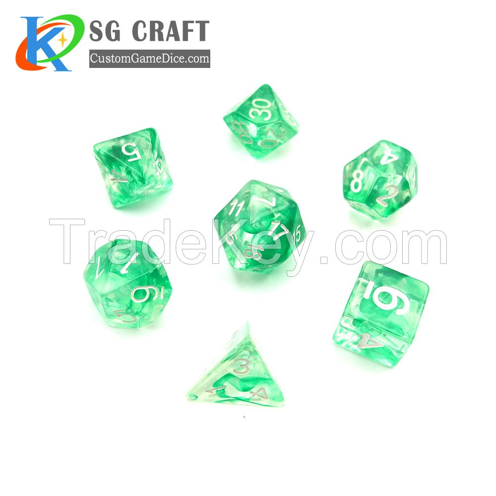 wholesale custom plastic dice set