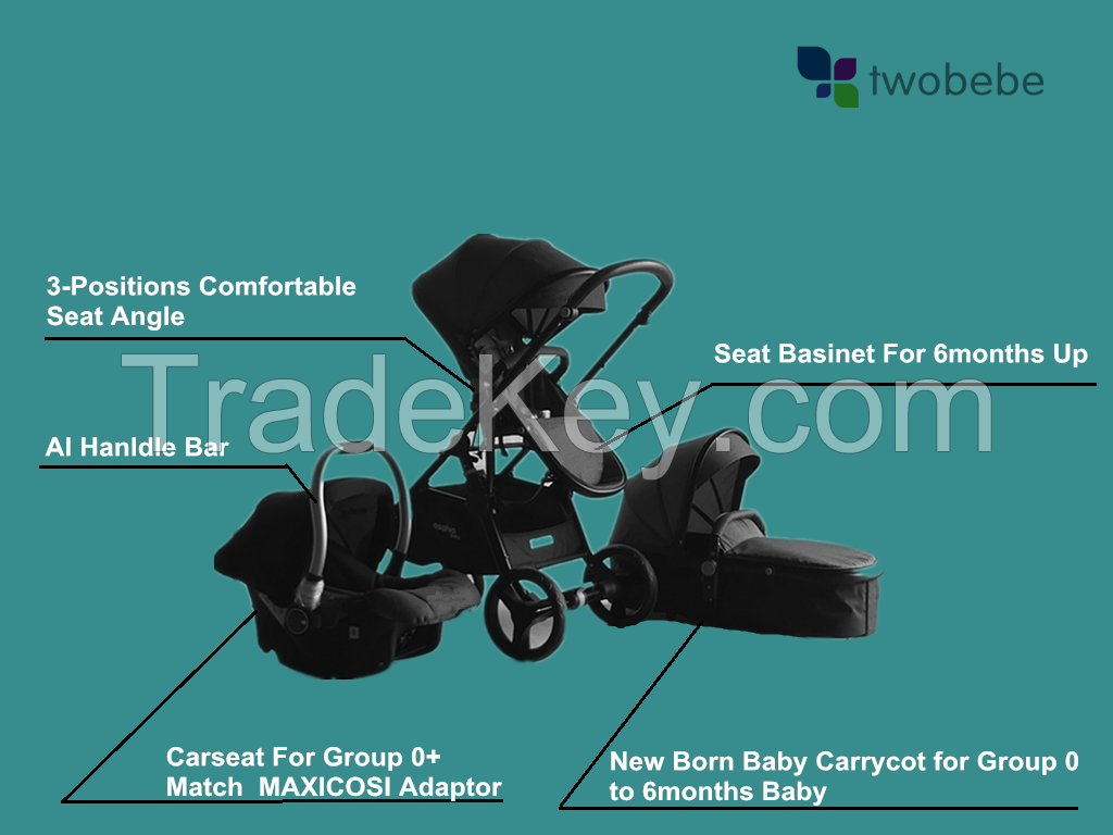 2018 Alibaba newborn travel system baby stroller en1888 / top baby stroller brands / tandem jogging baby pushchair  3 in 1 travel system