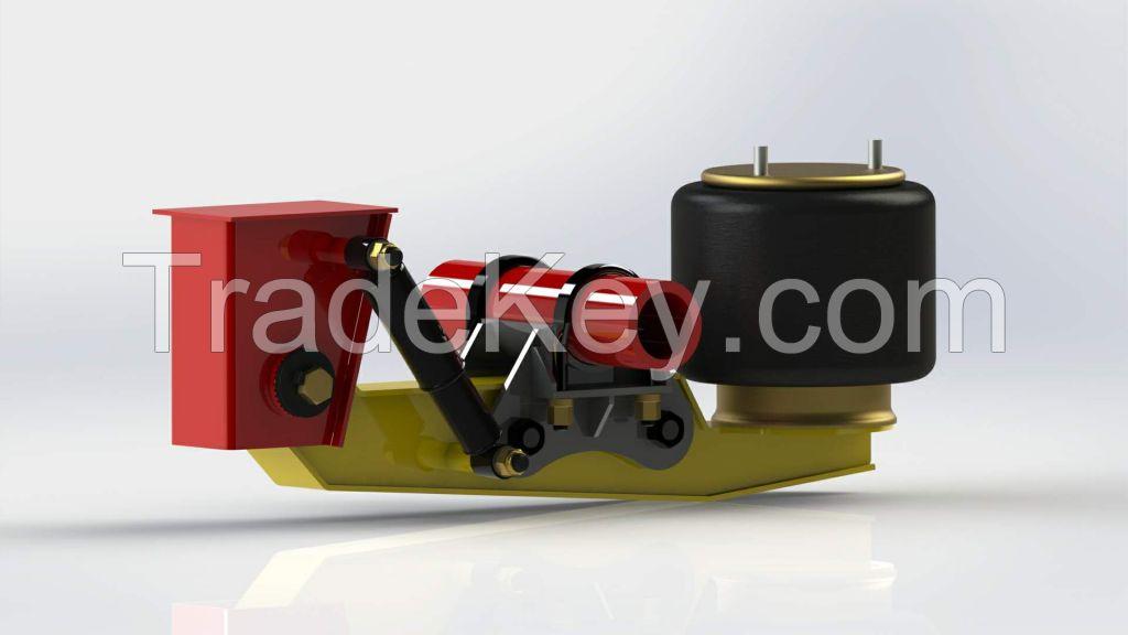 Heavy Truck Trailer Parts Semi Trailer Lifting Axle AirBag Suspension