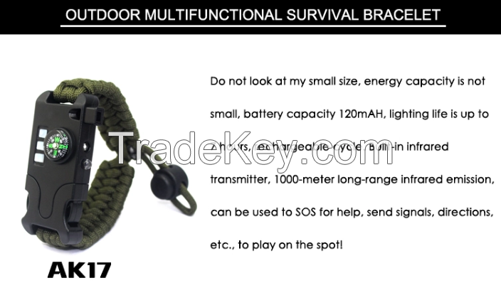 Tactical Woven Outdoor Camping 250 Paracord Survival Bracelet