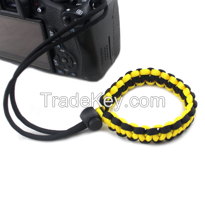 Popular Craft Outdoor Camping Hiking Adjustable Paracord Camera Lanyard, Customized Edc Paracord Camera Bracelet