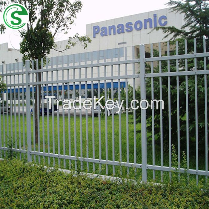 Security Tubular Garrison Powder Coated Strong Fence for Official Construction