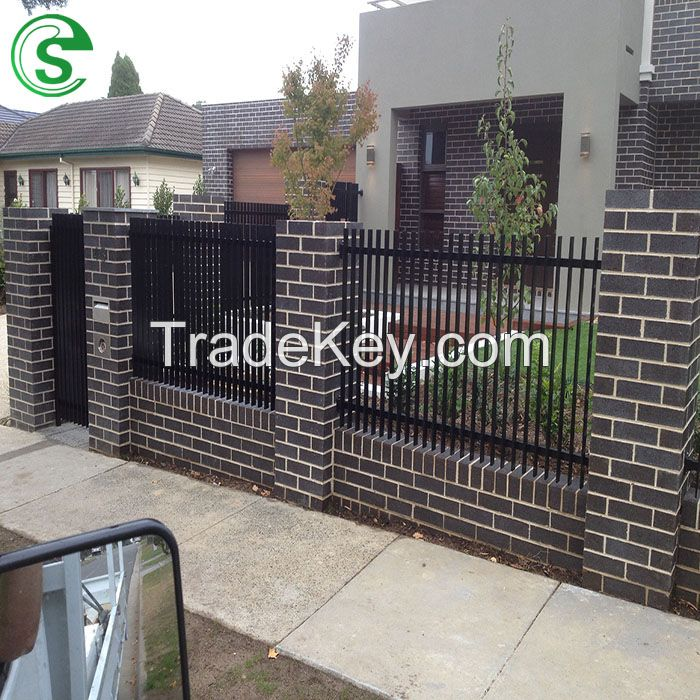 Hot Sales Powder Coated Pressed Spear Steel Security Fence