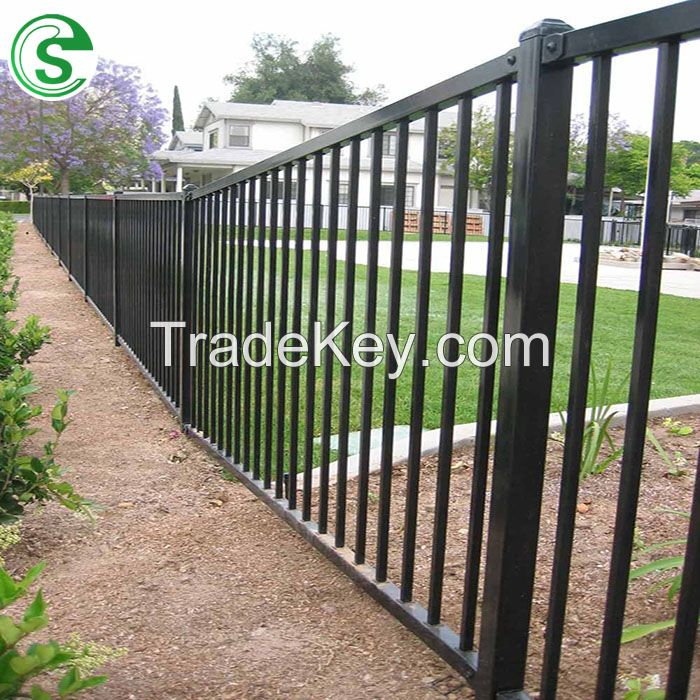 Construction/Decoration Residental House Used Iron Steel Tube Fence