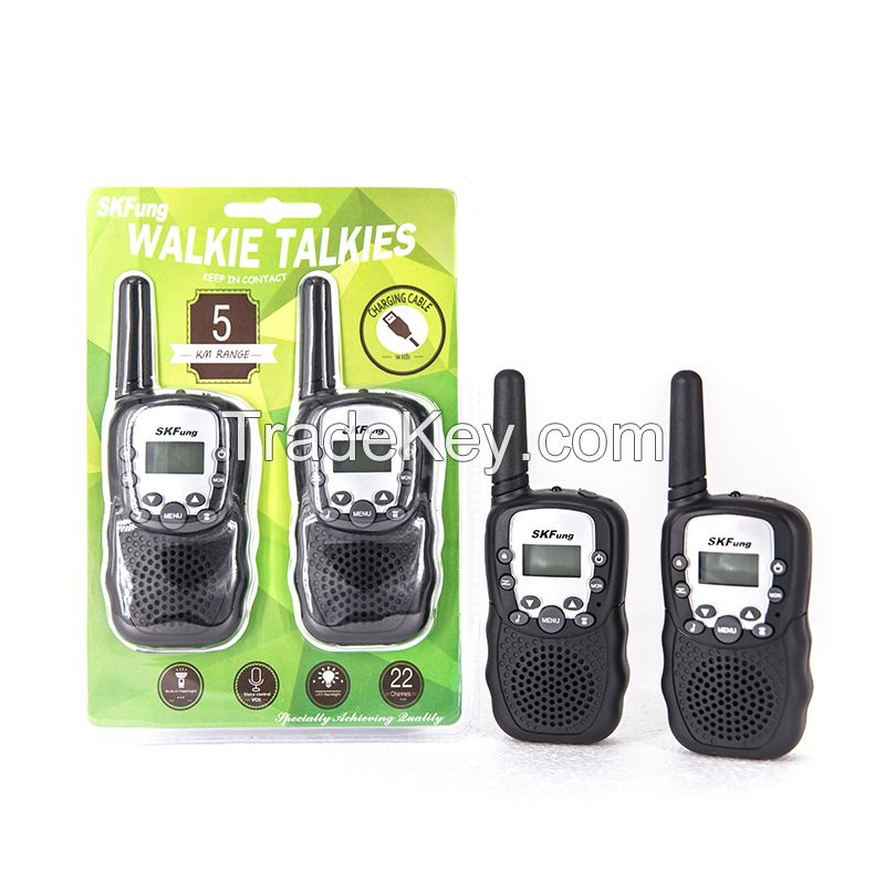 Hot sale Plastic Toys Walkie Talkie 462Mhz 22 Channels 5KM Portable Mini Walkie Talkie Toys