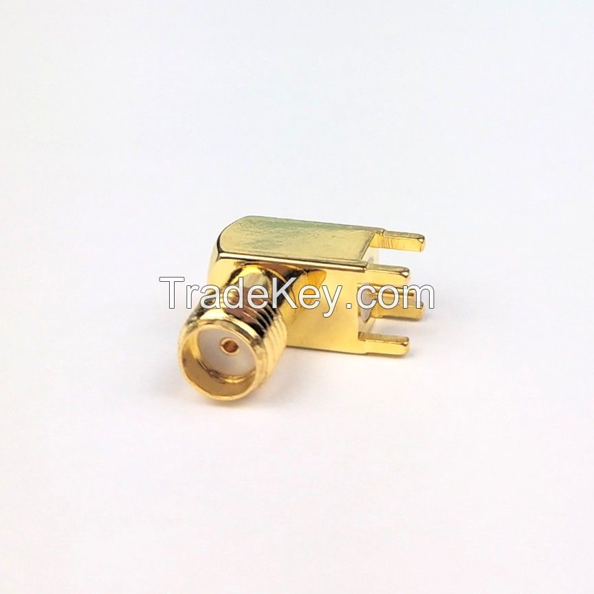 SMA Female Right Angle PCB RF Coaxial Connector