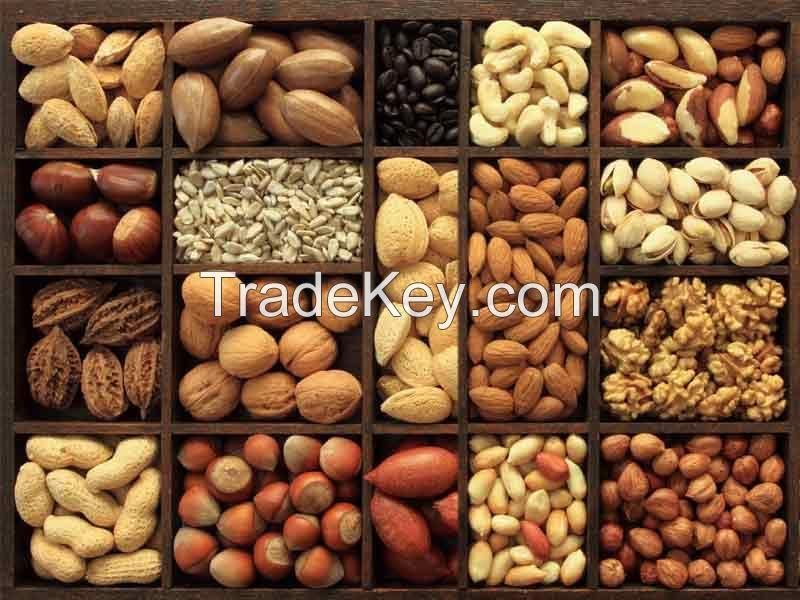 Almonds , pistachio , cashew