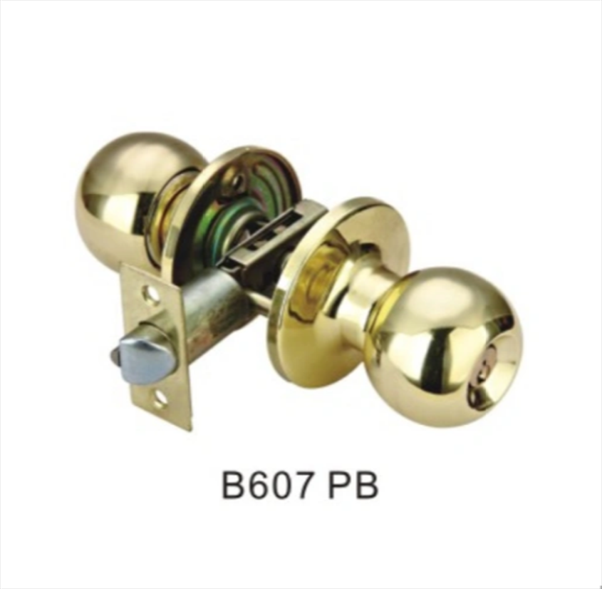 Cheap Price Good Quality Entrance Knob Door Lock (B607 PB)