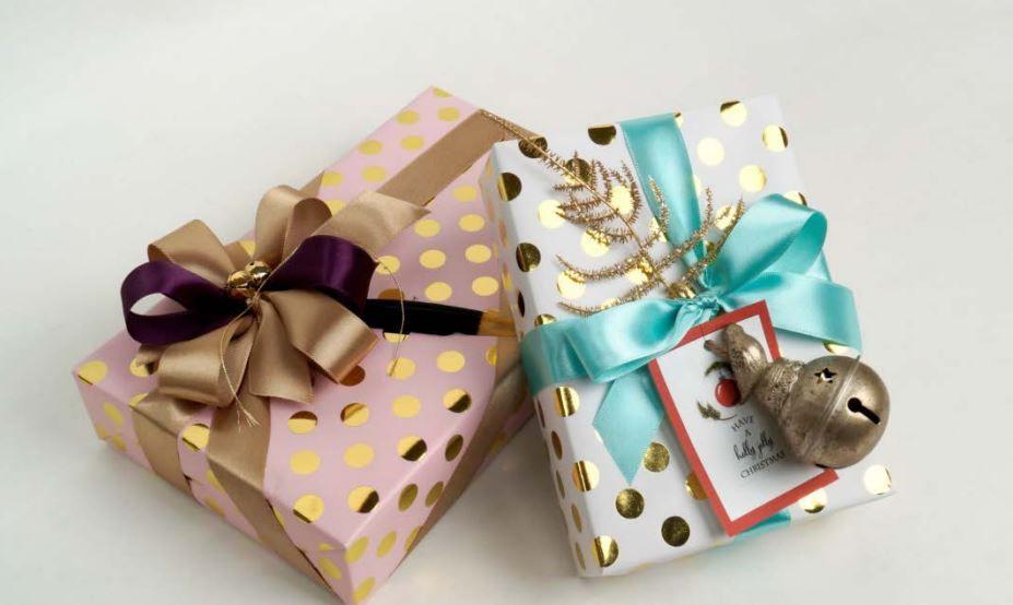 Gold Foil Big Dots Gift Wrapping Paper (Premium) DESIGNWRAP