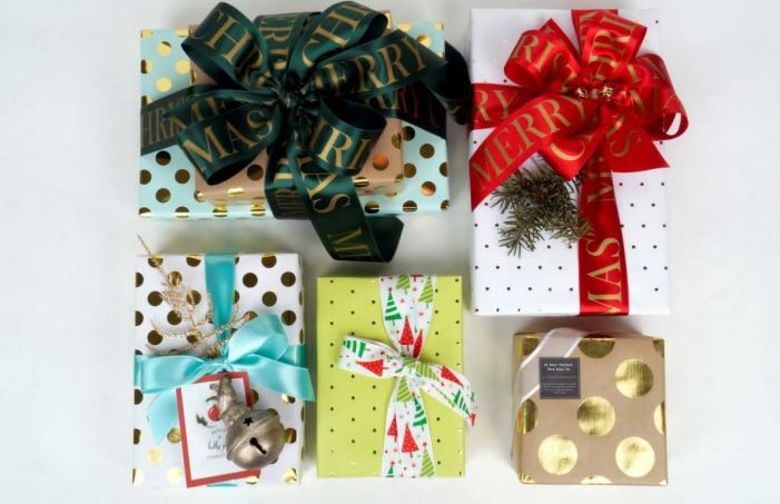 Gold Foil Medium Dots Gift Wrapping Paper (Premium) DESIGNWRAP