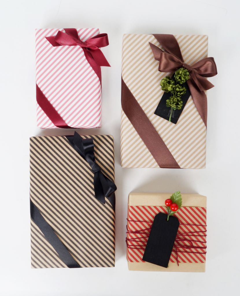 Gravure Printing Simple Line Gift Wrapping Paper DESIGNWRAP