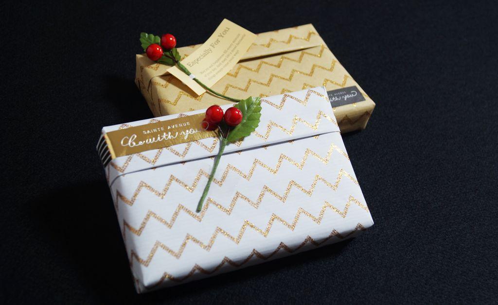 Shining Pearl Zig Zag Glitter Gift Wrapping Paper (Premium) DESIGNWRAP