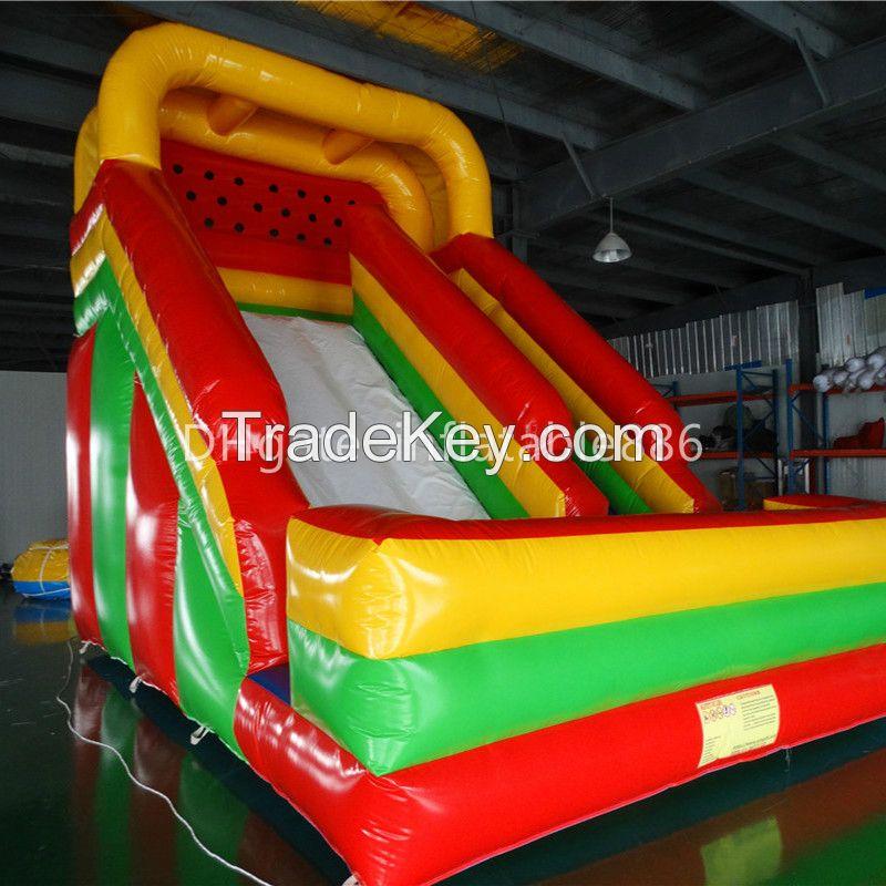 Popular PVC inflatable slide inflatable land slide bouncer slide for family use
