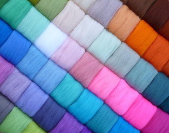 100% Merino Wool Fibre DIY Felt Wet Needle DIY Felted Wool