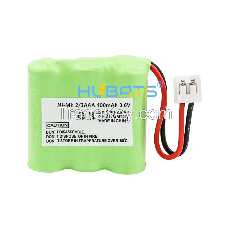 Hubats Ni-MH 2/3AAA 400mAh 3.6V Rechargeable Battery for Cordless Phone 2/3aaa 400mah 3.6v