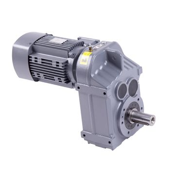 F type helical gear speed reducer gear box unit