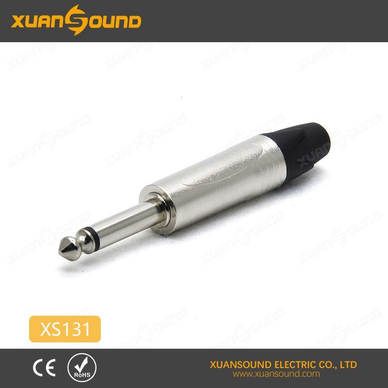 6.35mm audio plug, professional 1/4'' Mono plug for instrument/guitar cable