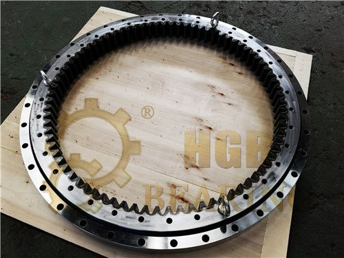 excavator slewing bearing with internal gear