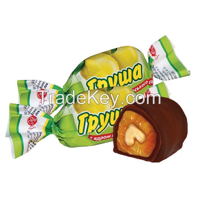 Pear With Walnut Kernel In Chocolate Glaze