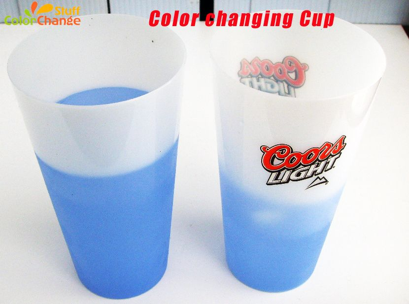 Color Changing Plastic Cup Heat Sensitive Color Changing Plastic Cup