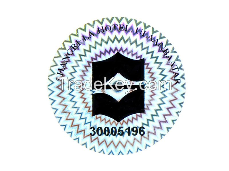 Various color hologram sticker with numbering