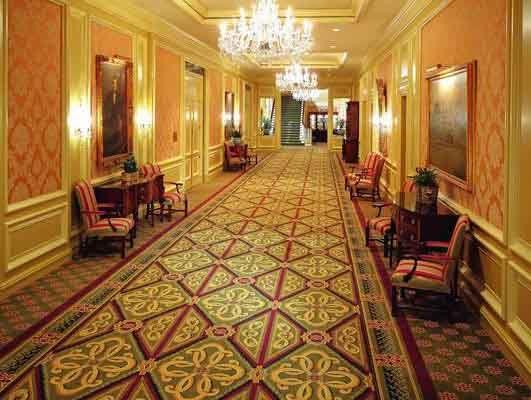 Custom Hotel Bedroom 80% Wool 20% Nylon Axminster Carpet